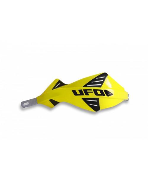 Защита рук UFO DISCOVER  с алюминиевым каркасом , для руля диам 22 мм, цвет желтый
