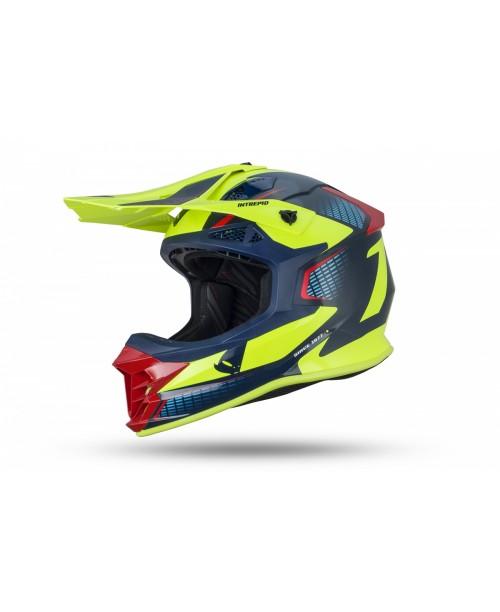 Шлем UFO Intrepid Blu, rosso e giallo fluo разм L