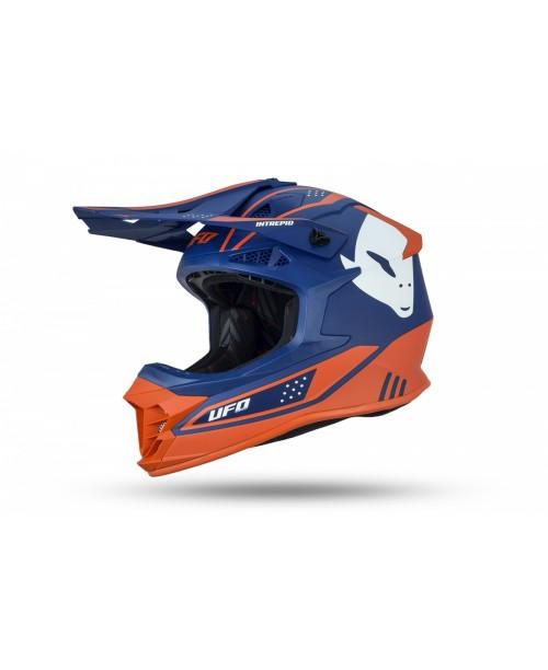 Шлем UFO  Intrepid blu e arancione разм M