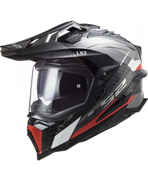 Шлем LS2 EXPLORER C FRONTIER TITATNIUM RED