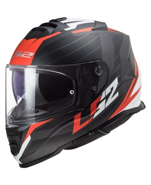 Шлем LS2 STORM NERVE цвет черн/красн