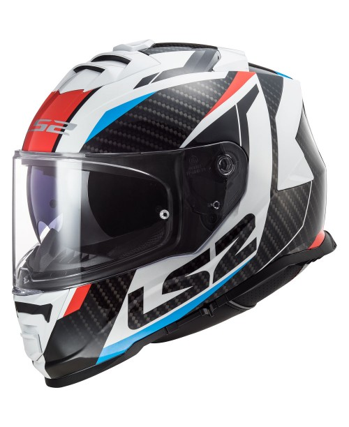 Шлем LS2 STORM RACER цвет карбон, Белый/Красный/Cиний