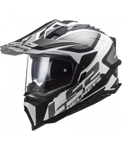 Шлем LS2 MX701 EXPLORER ALTER MATT BLACK WHITE
