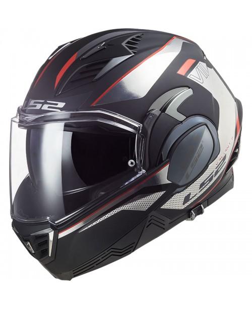 Шлем LS2 VALIANT II Black/Chrome