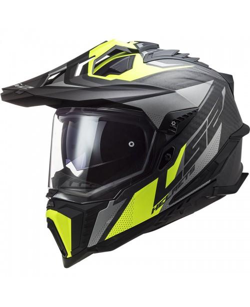 Шлем LS2 Explorer C Focus цвет черн/серы/желтый