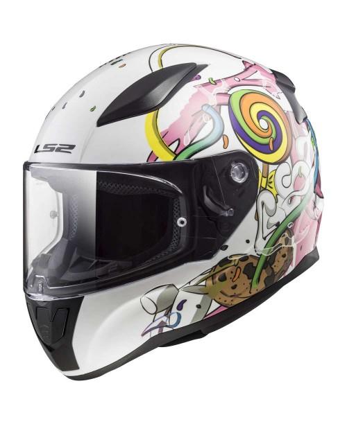 Шлем детский LS2 RAPID MINI CRAZY POP цвет белый/мультиколор